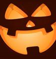 horror face pampkin halloween vector image