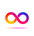 infinity symbol with color gradient design vector image vector image