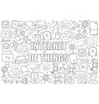 internet of things background from line icon vector image