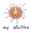 intuition abstract concept vector image vector image