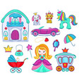 kids toys cartoon girlie games for children vector image vector image