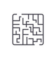 Labyrinth linear icon sign symbol on