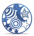 laser die cutting welded planet and stars in a cir vector image vector image