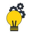 light bulb gears creativity vector image