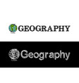 logo for geography school subject vector image vector image