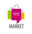 logo three shopping bags vector image vector image