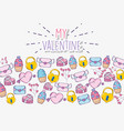 love card with ice cream and padlock background vector image
