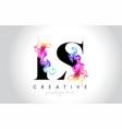 ls vibrant creative leter logo design vector image vector image