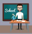 man teacher in the classroom vector image