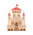 medieval castle renaissance palace beige color vector image vector image