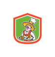 Mexican Chef Cook Shield Cartoon vector image