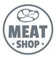 modern meat shop logo simple style vector image vector image