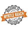 myrtle beach round ribbon seal vector image vector image
