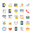 online shopping and commerce flat icons vector image