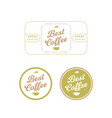 organic coffee label and badge vector image vector image