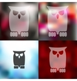 owl icon on blurred background vector image