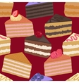 Pieces of cake seamless pattern vector image