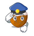 police character coconut of pieces in market vector image vector image