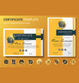 professional certificate background template with vector image vector image