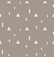 random triangle shapes seamless pattern vector image