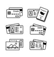 set electronic cards and other cards vector image