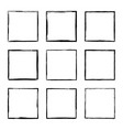 set hand drawn rectangle frame vector image vector image