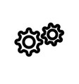 setting line icon vector image vector image