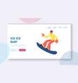 sportswoman snowboarder having fun on ski resort vector image vector image