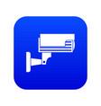 surveillance camera icon digital blue vector image vector image