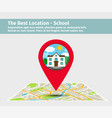 the best location school vector image vector image