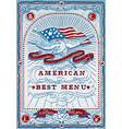 Vintage Graphic Page for American Menu vector image vector image