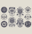 vintage native american indians labels set vector image vector image