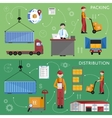 Warehouse process infographics vector image vector image