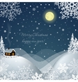 Winter landscape with a house vector image vector image