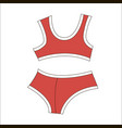 woman bra fashion summer red swimsuit isolated vector image