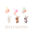 Cute Bunny set vector image