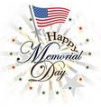 happy memorial day usa vector image
