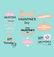 set of valentine s day vector image