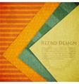 Color Paper Retro vector image