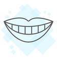 smile with white tooth thin line icon stomatology vector image