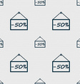 50 discount icon sign Seamless abstract background vector image vector image