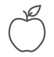 apple line icon diet and fruit healthy food vector image vector image