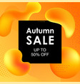 autumn sale design with colorful gradient shapes vector image vector image