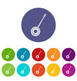 banjo set icons vector image
