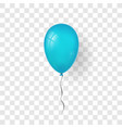 blue balloon 3d thread isolated white vector image vector image