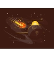 Burning comet in space vector image vector image
