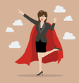 Business woman superhero vector image vector image