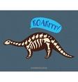 Cartoon camarasaurus dinosaur fossil vector image vector image