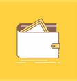 cash finance money personal purse flat line vector image vector image