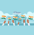 celebration happy india independence day 15th vector image